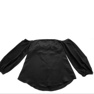 Theory Black tube top with off the shoulder sleeve